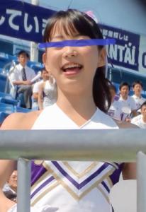 [◆アンスコ女神◆]【東京有名私立大学チア】アイドル級の可愛さ!でもアンスコ食い込みはしっかりと!